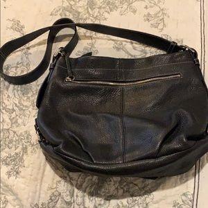 Coach black and teal shoulder purse
